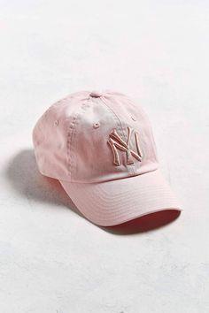 956c9cf2097 American Needle Tonal Pink Yankees Hat - Order Online at  UrbanOutfitters.com Yankees Hat