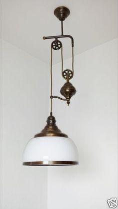 Wunderschöne antike Zug Lampe   eBay