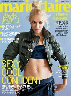 Marie Claire October 2012, Gwen Stefani= girl crush! I am the black Gwen Stefani!!!