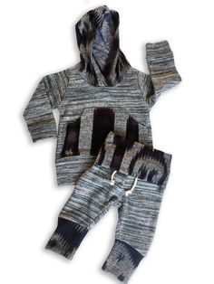 A personal favorite from my Etsy shop https://www.etsy.com/listing/474604142/marled-grey-baby-hoodie-and-jogger-set