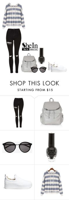 """Cropped Swirt Shirt"" by gloriadesigns on Polyvore featuring Topshop, Yves Saint Laurent and Windsor Smith"