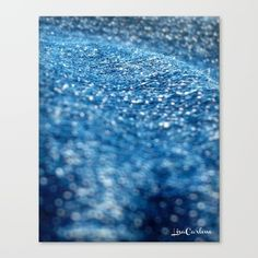 "Denim Wave by LisaCarlene Designs for sale @Society6. Fine art print on bright white, fine poly-cotton blend, matte canvas using latest generation Epson archival inks. Individually trimmed and hand stretched museum wrap over 1-1/2"" deep wood stretcher bars. Includes wall hanging hardware."