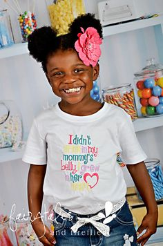 Adoption Embroidered Shirt - Adoption Awareness Shirt - Grew In Mommy's Heart - Mommy To Be - Mommy - Adopted - Adopt - Expecting - Love