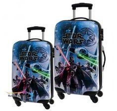888d9f1fcaae4 Sada cestovných kufrov ABS Star Wars Blue 55x67 cm Abs, Suitcase, Star Wars,
