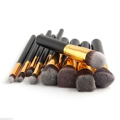 10 pc Makeup Brush Set
