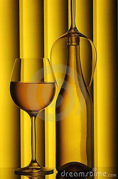Glasses and wine bottle by Pindiyath100