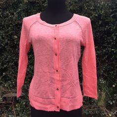 NWT Salmon American Eagle light sweater MEDIUM Gorgeous salmon colored American Eagle outfitters light sweater and a size medium rhinestone buttons and beautiful detail! This is a brand-new item. NWOT American Eagle Outfitters Sweaters