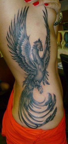 Phoenix Tattoos Meaning - 45 Phoenix Bird Tattoo Ideas // April, 2020 Phoenix Tattoo Feminine, Tribal Phoenix Tattoo, Phoenix Bird Tattoos, Phoenix Tattoo Design, Tattoo Side, Tattoo On, Thigh Tattoos, Tattoo Flash, Small Tattoo