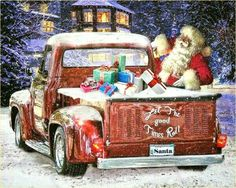 Examples of Holiday Hot Rod Artwork Page 2 Christmas Red Truck, Merry Christmas, Christmas Love, Christmas Colors, Christmas Crafts, Christmas Apps, Christmas Clipart, Christmas Wishes, Christmas Ideas