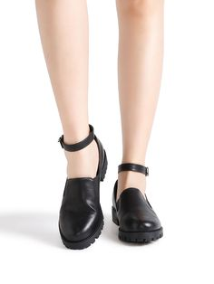 Shop Black Ankle Strap PU Shoes online. SheIn offers Black Ankle Strap PU Shoes & more to fit your fashionable needs.