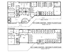 Veterinary floor plan: County West Animal Hospital