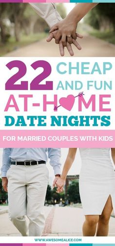 Date Night Ideas that you can do from home after the kids are in bed. Here are 22 fun, cheap and totally doable date night ideas that you can have at home after the kids are asleep. There is something for everyone!