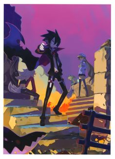 disgaea 4. I believe this was a summer greeting card that was the first image released for the game.