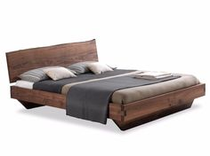 Solid wood double bed NATURA 6 By Riva 1920 design C. Selling Furniture, Bed Furniture, Industrial Design Furniture, Furniture Design, Double Bed Designs, Cama King, Blue Bedroom Decor, Contemporary Interior Design, Queen Size Bedding
