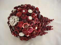 The For Richer For Poorer Teardop Wedding Button Bouquet and Boutonniere