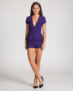 """THREE OF SOMETHING REGIME PLAYSUIT-VIOLET 