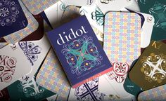Typographic Playing Cards on Behance #playing cards, #didot, #typeface, #typography, #letterform, #game, #design, #graphic design, #packaging, #scad, #student work
