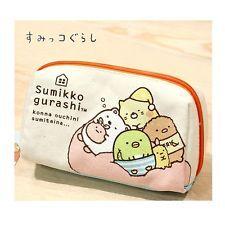 San-x Sumikko Gurashi Canvas Pencil Case Cosmetic Multi Purpose Pouch : Medium