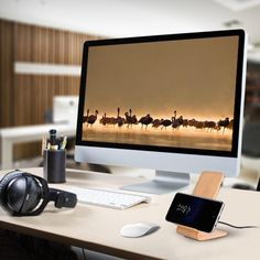 Don't have the budget for a smart watch? Want to upgrade your lifestyle? Get rid of charging cables with this Wood Grain Stand Wireless Charger for Android Smartphones! Wireless chargers are usually flat and horizontal and just make it hard to stay in touch with your world. Never again! Don't miss that text or phone call anymore, you will see the screen light up right in front of you, even from a distance.