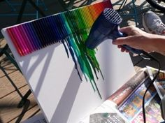 Sweet melted crayon art. by Ms.B
