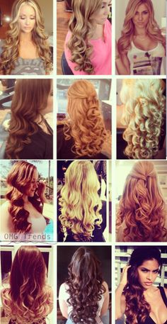 12 Different Types of Curls with 1 Iron! My favorite is number 2!