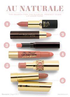 Au Naturale: 6 Perfect Nude Lipsticks for Fall 2013