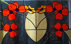 Traditional Poppy Stained Glass Window created by Neil Maciejewski 2013.   rayoflightglass.com Stained Glass Windows, Poppy, Pattern Design, Glass Art, Traditional, Texture, Halloween, Create, Flowers