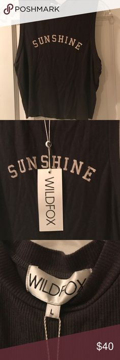 Wildfox brand new with tags sleeveless tank New with tags never been worn muscle tee Wildfox Tops Crop Tops