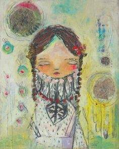 dreams of peace. a mixed media painting by juliette crane. http://juliettecrane.com