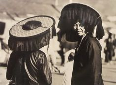 Hakka Women wearing traditional shade hats (Hong Kong Heritage Museum)