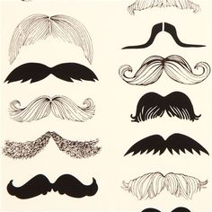 beige moustache fabric by Alexander Henry from the USA 1