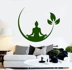 Vinyl Wall Decal Yoga Meditation Room Buddhist Zen Stickers (ig4132)