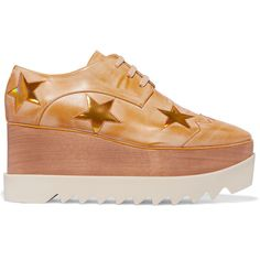 Stella McCartney Stella McCartney - Faux Leather Platform Brogues -... (€760) ❤ liked on Polyvore featuring shoes, oxfords, stella mccartney shoes and stella mccartney