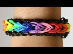 Rainbow Loom Nederlands - Raindrops Bracelet || Loom bands, rainbow loom, tutorial, how to