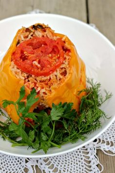 Albanian Stuffed Peppers-This is a yummy and easy recipe to make.