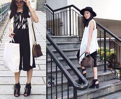 H&M Hat, Topshop Printed Cami, Louis Vuitton Bag, Jeffrey Campbell Shoes Singapore Outfit, Vuitton Bag, Louis Vuitton, Classy Chic, Designer Bags, Office Wear, Jeffrey Campbell, Chic Outfits, Cami