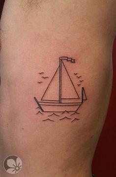 sailboat tumblr tattoo - Google zoeken