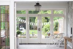 Barn Door Designs, External Doors, Bedroom Doors, New Homes, Cottage, Windows, Patio, Living Room, Interior