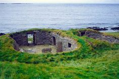 Knap of Howar, oldest standing house in western Europe, Papa Westray, Orkney Islands, Scotland