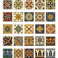 Miniature Tile | Print to scale on cardstock - Finish with Triple Thick Acrylic Gloss Glaze for high shine