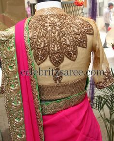 High Neck Luxurious Blouse | Saree Blouse Patterns