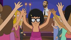 "NPR: Feminism In A Run-Down Taffy Factory: The Women Of 'Bob's Burgers'- ""But instead of using Tina as an arbitrary tool for cheap laughs, the writers of Bob's Burgers –– several of whom are women –– have given audiences the opportunity to see adolescence through the lens of a central female character. The show, in fact, embraces Tina's own sexuality for all its uncomfortable awkwardness."