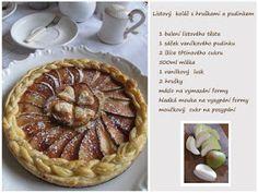 PASTU domov: Hruškový koláč s pudinkem Pavlova, Pie, Desserts, Blog, Torte, Tailgate Desserts, Cake, Deserts, Fruit Cakes