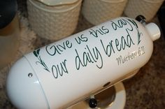 Give Us this Day Vinyl Mixer Decal for KitchenAid or Other Mixer