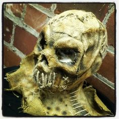 Sockets Sinister FX Mask Burlap and Latex, hand painted and hand stitched…