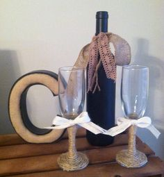 bought a dozen of these simple flutes for 30, now decorating just like this!   saving bundles