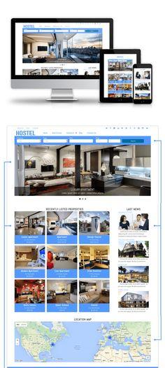 Hostel - Drupal Real Estate theme. Drupal Themes. $5.00