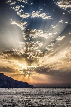 Sunrise in Almeria Spain.