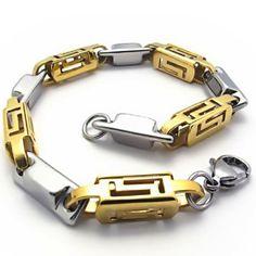 JewelryWe Joyas hombre pulsera de oro y plata del acero inoxidable de la cadena 9 pulgadas Longitud ancho 7mm  ¿Te ha gustado? Visita http://todohalloween.ovh/tienda/jewelrywe-joyas-hombre-pulsera-de-oro-y-plata-del-acero-inoxidable-de-la-cadena-9-pulgadas-longitud-ancho-7mm/