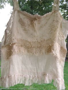 Tattered gauze French old lace top